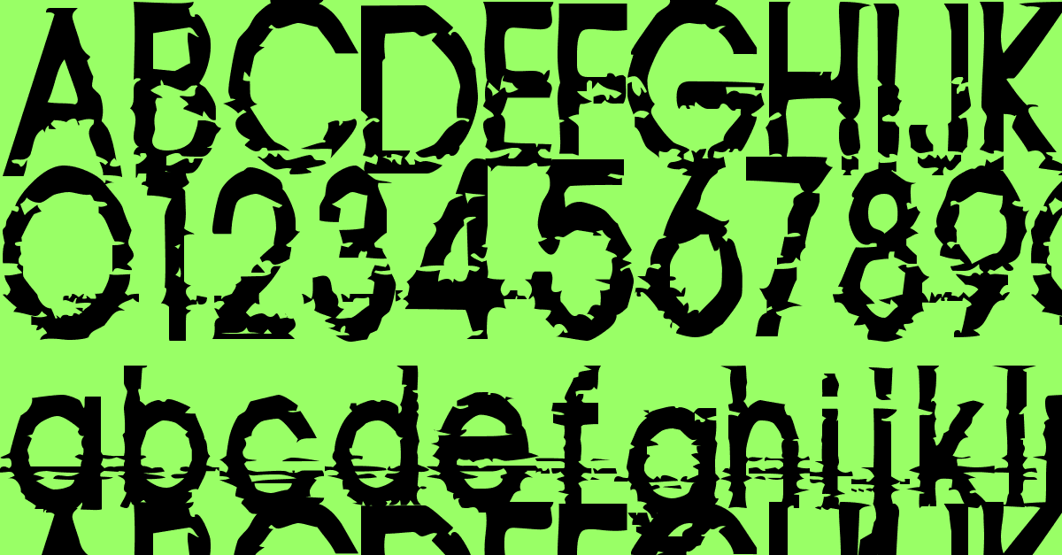 814yzx      #distorted #font #sans-serif #static