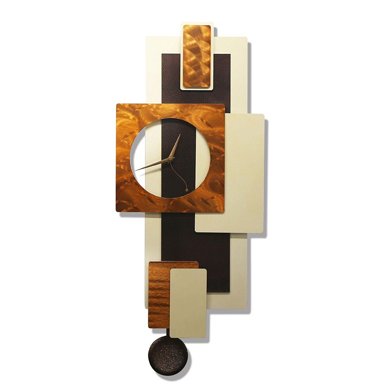 nice looking modern wall clocks amazon. Amazon com  Statements2000 Bronze Hanging Wall Clock Abstract Metal Art D cor by