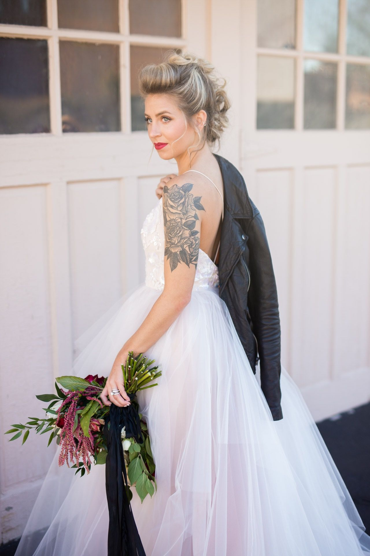 Edgy wedding dresses  Sweet and Edgy Romance Wedding Inspiration  Romance Wedding and