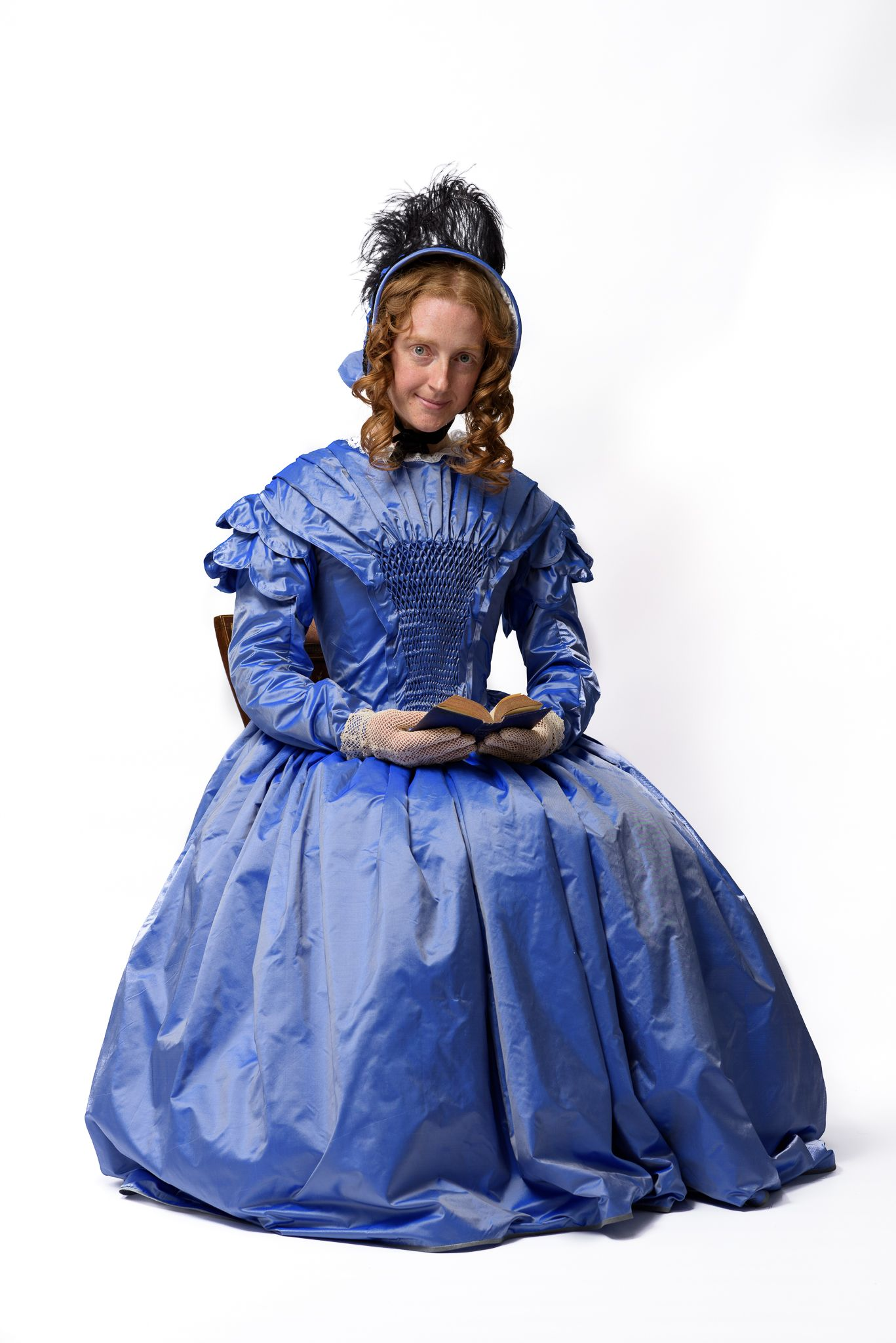 1845 day dress by Prior Attire. Construction and pattern