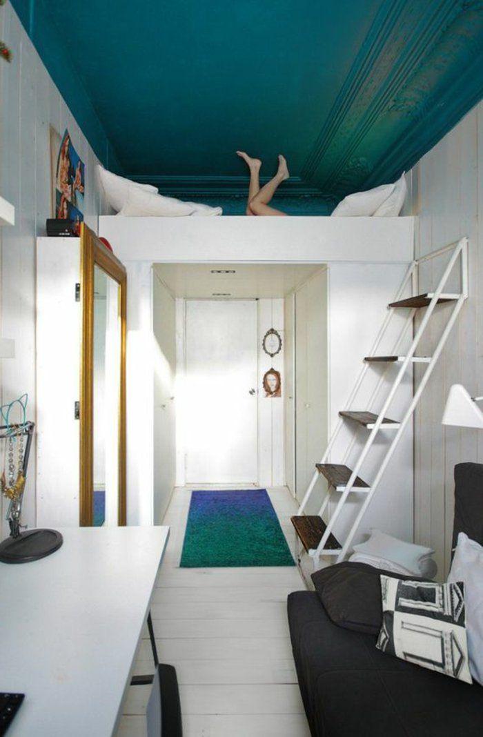 1001 solutions pour l 39 quipement de vos petits espaces studio amenagement petite chambre - Amenagement chambre en longueur ...
