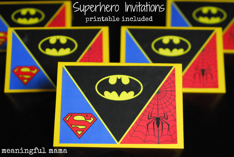 How to Create a Superhero Backdrop | Superhero birthday invitations ...