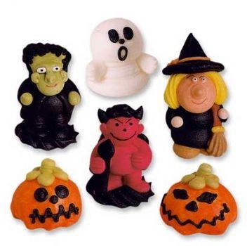 #Halloween Kuchen Deko Zuckerfiguren, Set mit 6 Figuren