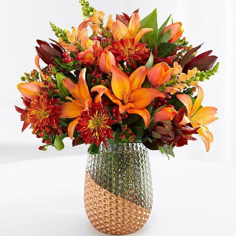 Centros de flores bonitos y ramos naturales para el otoño | Otoño ...