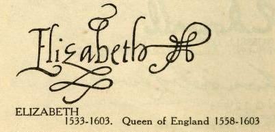 Elizabeth i queen of england famous signatures examine for Tudor signatures