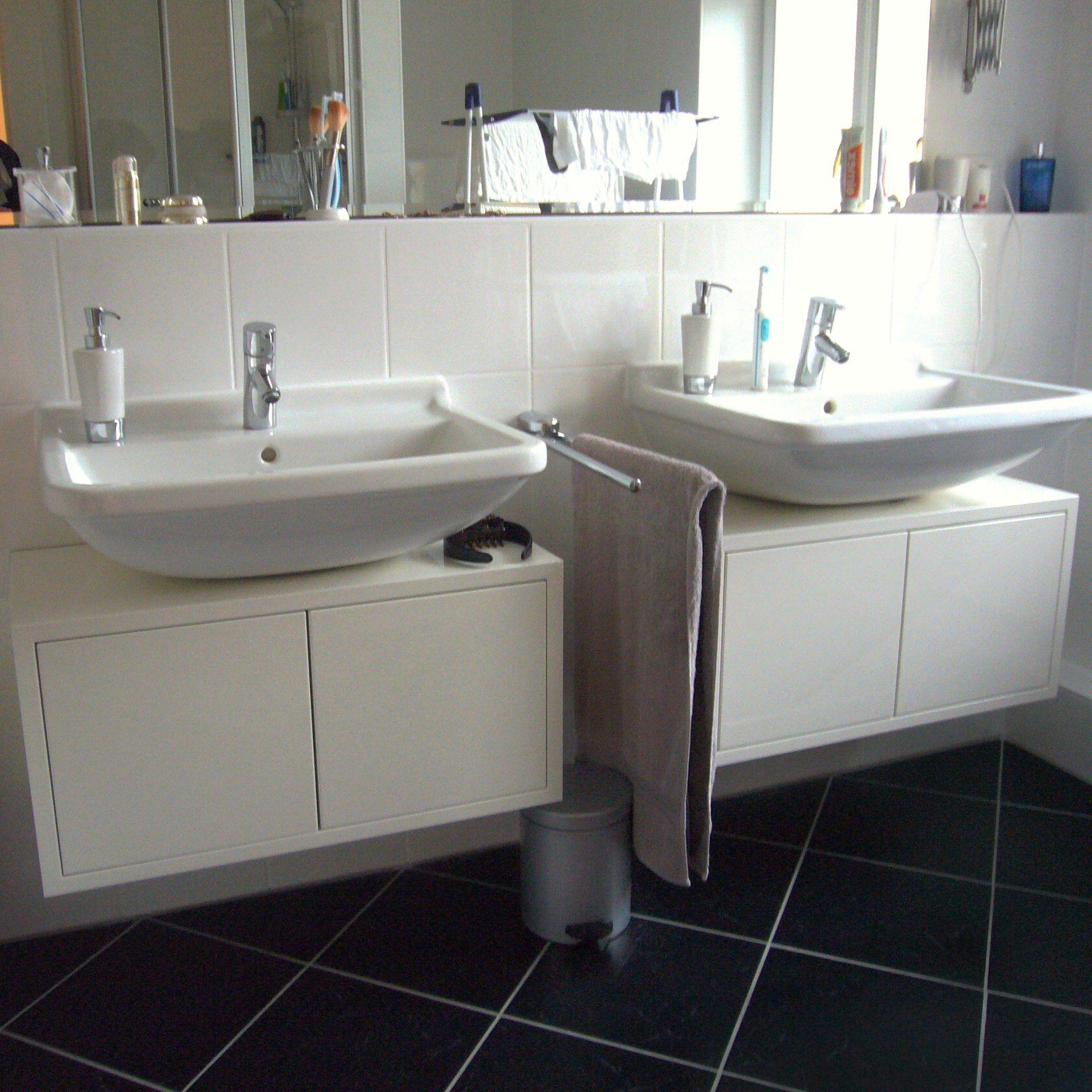 Waschtische wei hochglanz lackiert l s b der pinterest bad waschtisch und w sche - Hochglanz lackieren ...