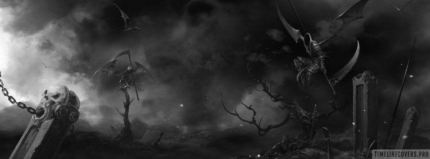 Dark grim reapers all around facebook cover facebook