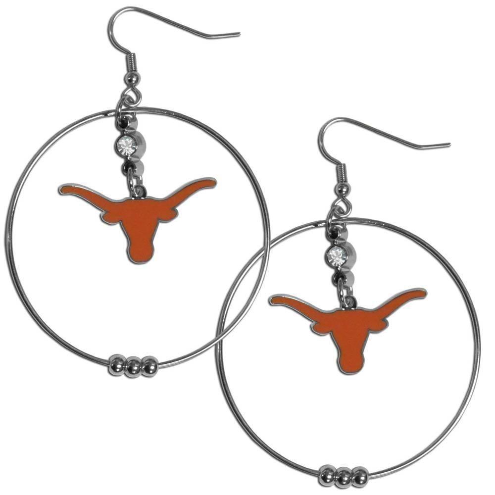 NCAA Texas Longhorns 2 Inch Hoop Earrings Texas