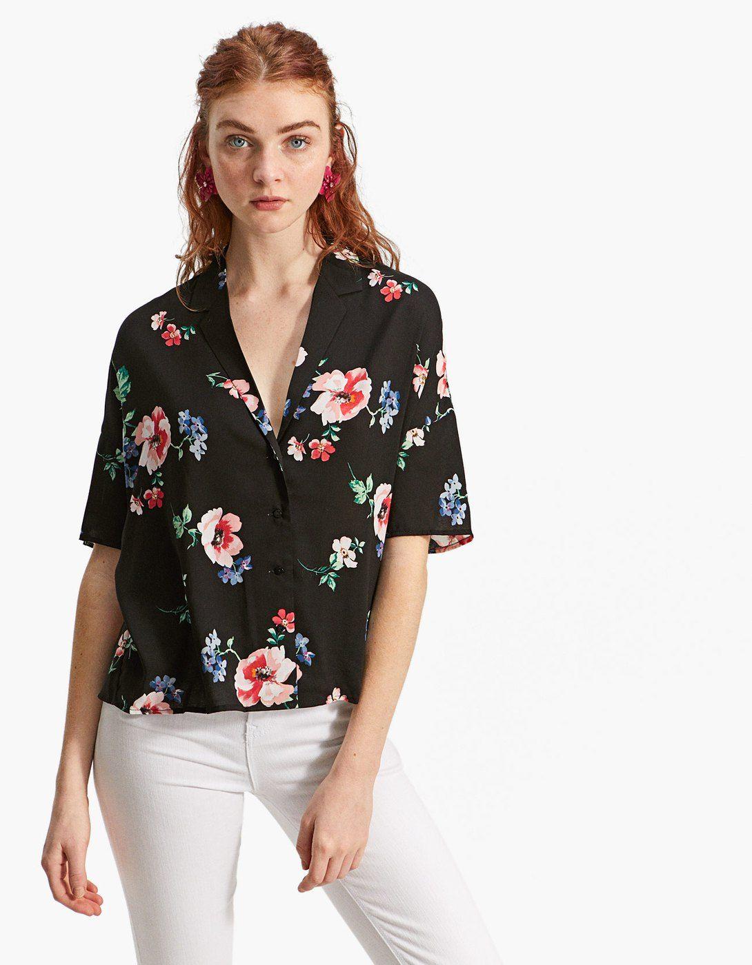 1bad5fe5589 Camisa estampada - Camisas | Stradivarius Mexico | blusas en 2019 ...