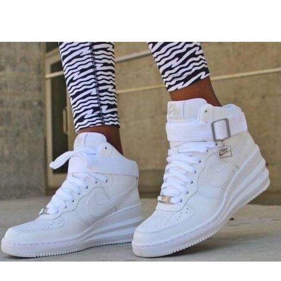 another chance 2b652 cc22f Women s Nike Lunar Force 1 Sky Hi A trend-right wedge boosts a 1982 iconic  sneaker to new heights with statement-making street style. A Nike Air unit  offers ...