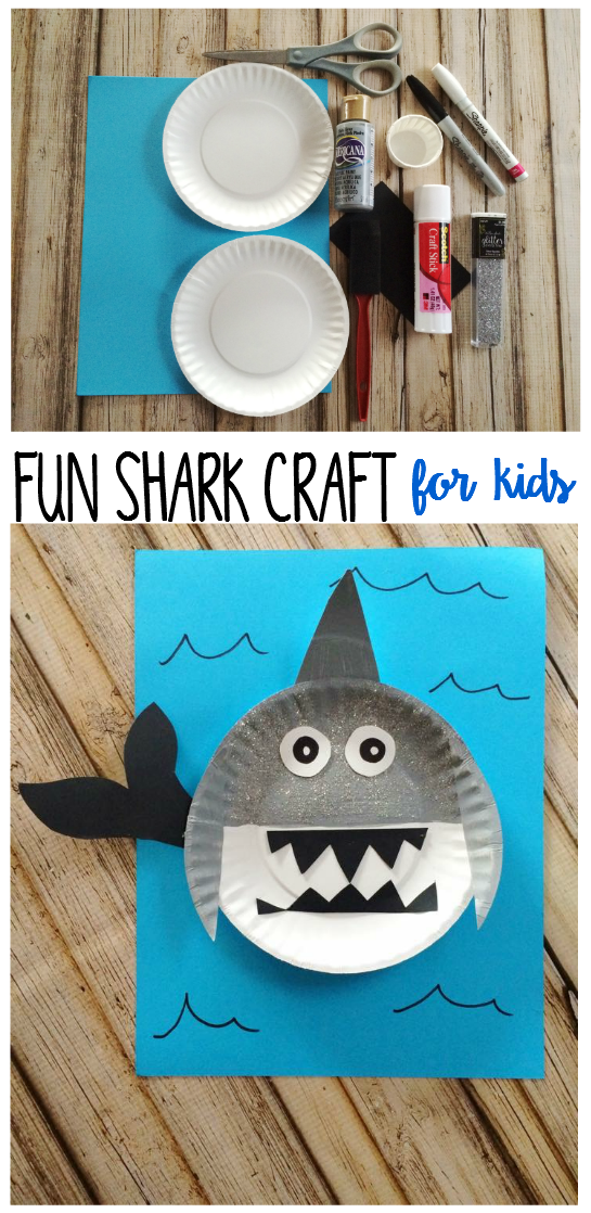 Fun Shark Craft For Kids Shark Craft Crafts For Kids