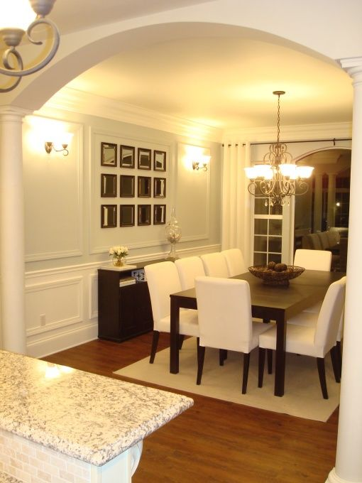 dining room ideas ice blue wall with white and woodwork   Dream Home ...