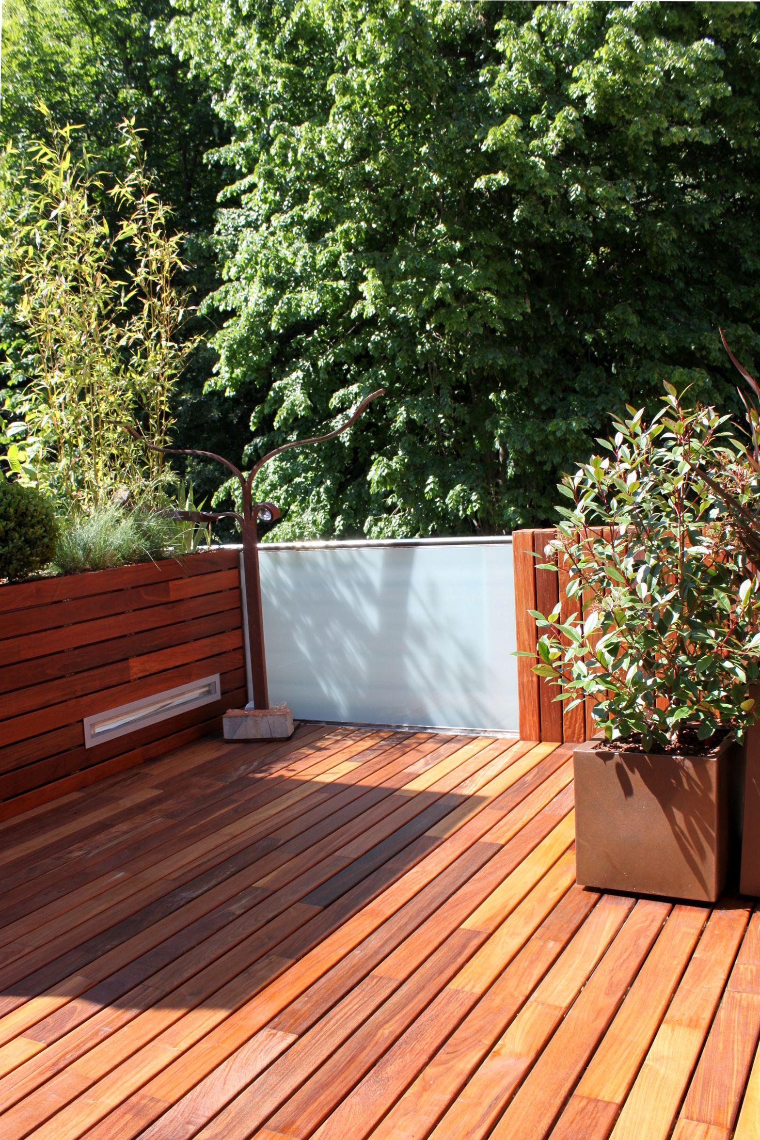 Jardin en terraza diseño de La Habitación Verde #paisajismo #diseño ...