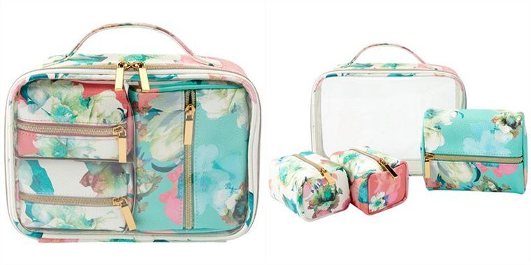 f34c1fb0846d Love and lore 4-piece cosmetic travel set capri floral | beauty in ...