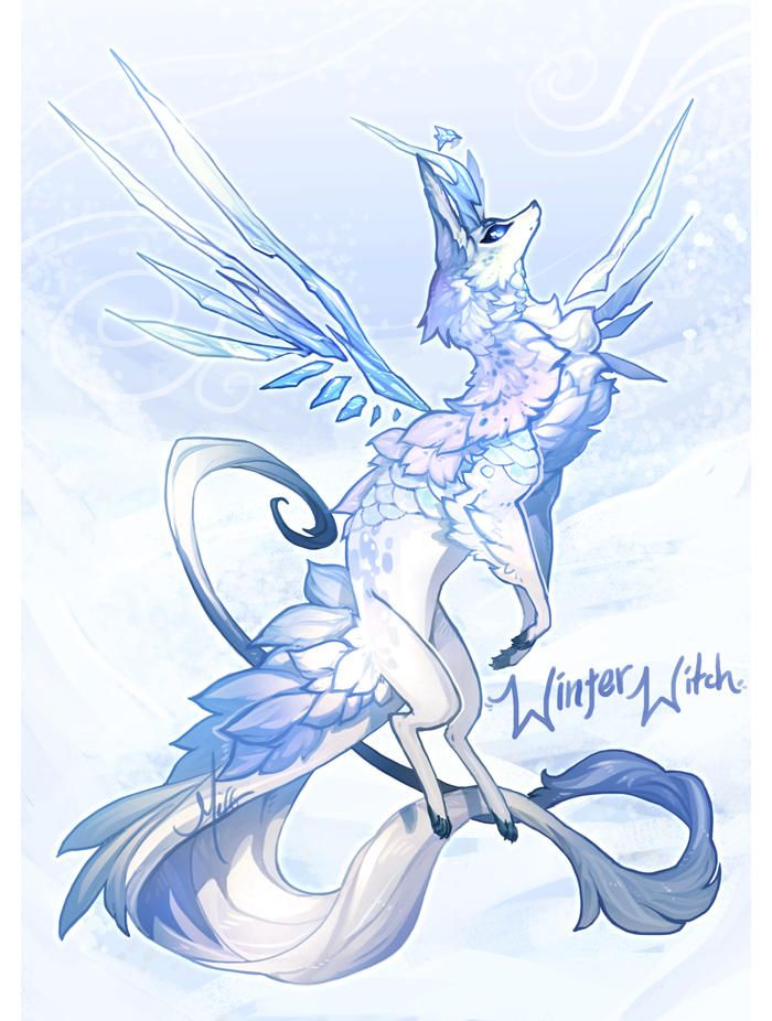 Advent Day 29 Winter Witch Over By Manaberry Mythical Creatures Art Cute Fantasy Creatures Animal Drawings