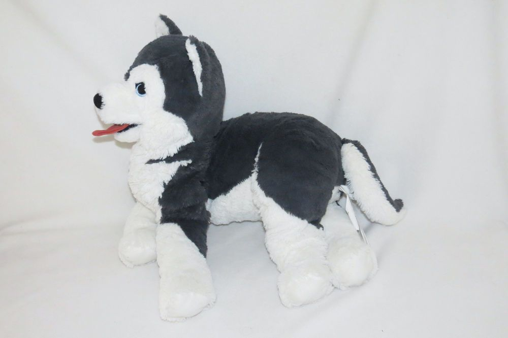 Ikea Livlig Siberian Husky Puppy Dog Stuffed Mama Giant Big Plush