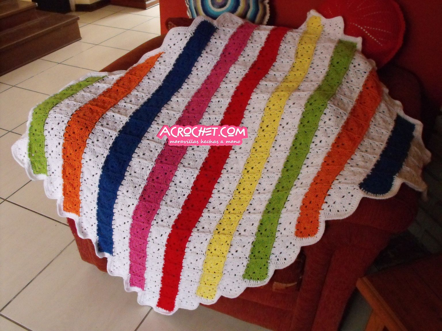 Rombos en diagonal | Blog a Crochet – ACrochet – Tejidos y Patrones ...