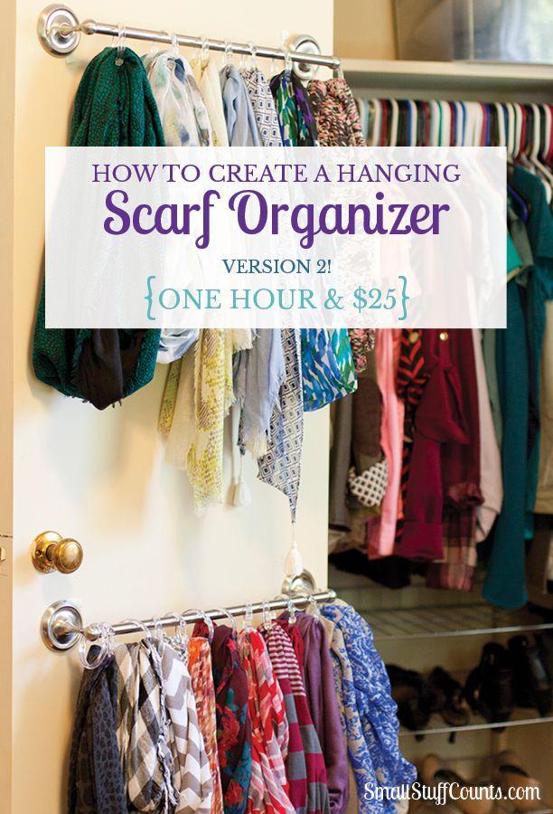 Easy Hanging Scarf Organizer Version 2 Scarf Organization