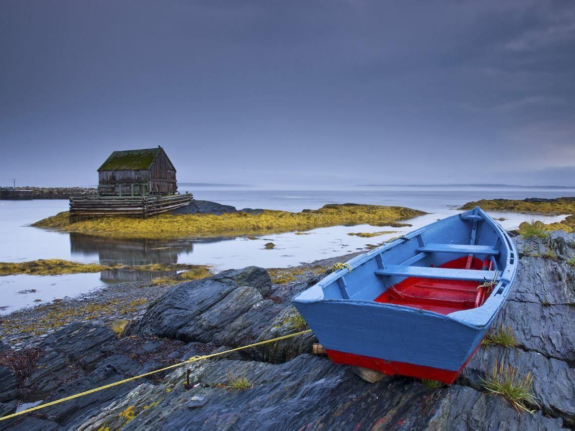 Boathouse On Lake Panache Greater Sudbury Ontario Canada Nova