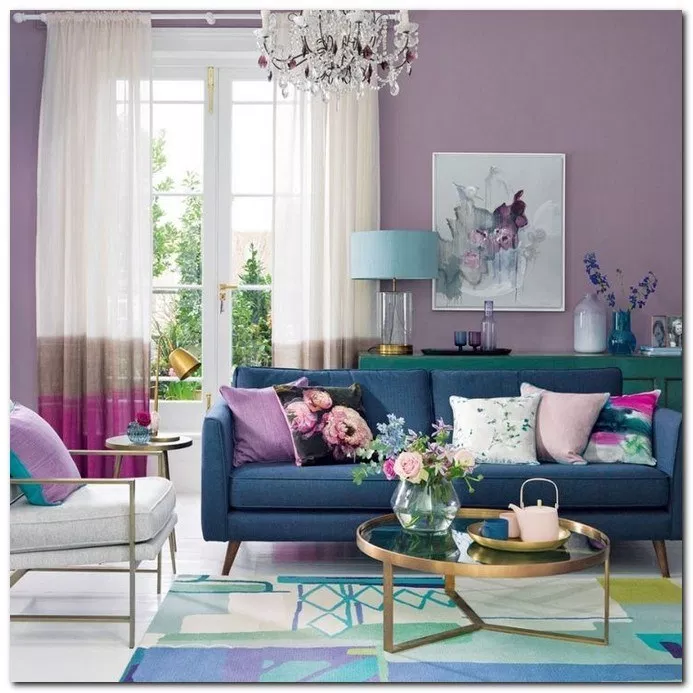 22 Stunning Colorful Living Room Decor Ideas Livingroomdecor Livingroomideas Livingroo Purple Living Room Purple Living Room Furniture Colourful Living Room #teal #and #purple #living #room