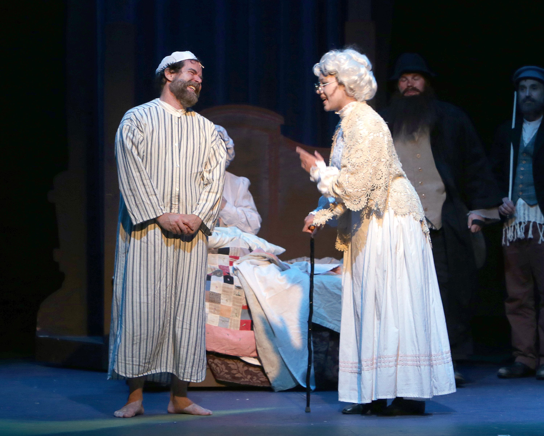 Tim Wisgerhof As Tevye And Alexis Ananda Cole As Grandma Tzeitel Bridesmaid Dresses Victorian Dress Wedding Dresses