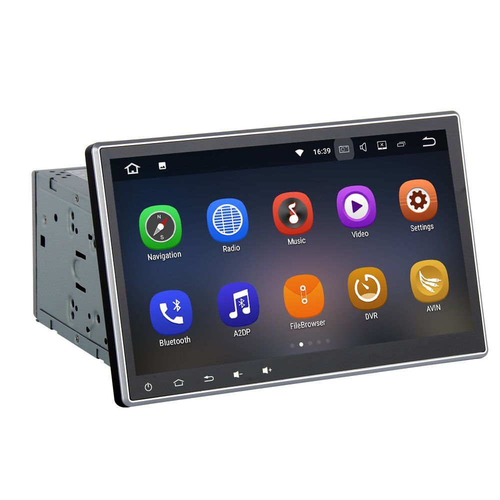 Sygav Double Din Car Stereo Dvd Player Android 711 Nougat Head Garmin Drive 51 Gps Mobil Touchscreen Unit 102 Adjustable Touch Screen Navigation With 2g Ram Bluetooth Wifi Fm Am Radio