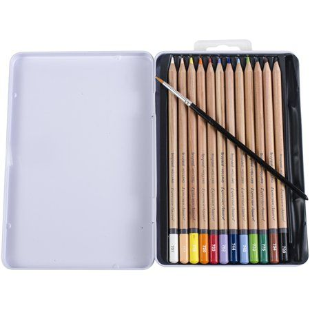 Bruynzeel Expression Watercolour Pencil Set W Tin 12 Pkg