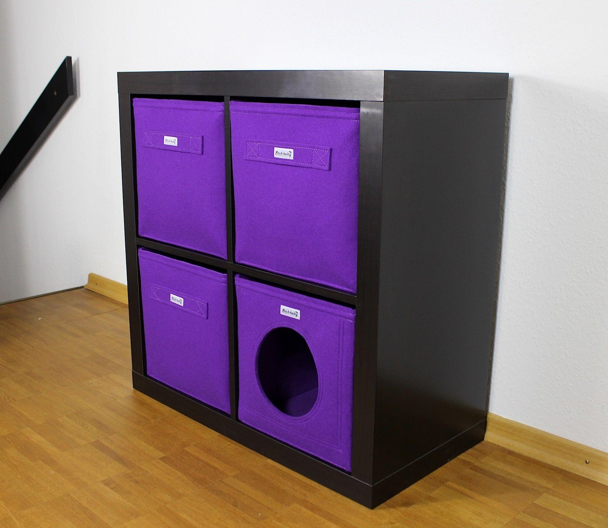 katzenh hle aus filz f r ikea kallax katzenbetten katzenliegen ikea regal expedit regal. Black Bedroom Furniture Sets. Home Design Ideas