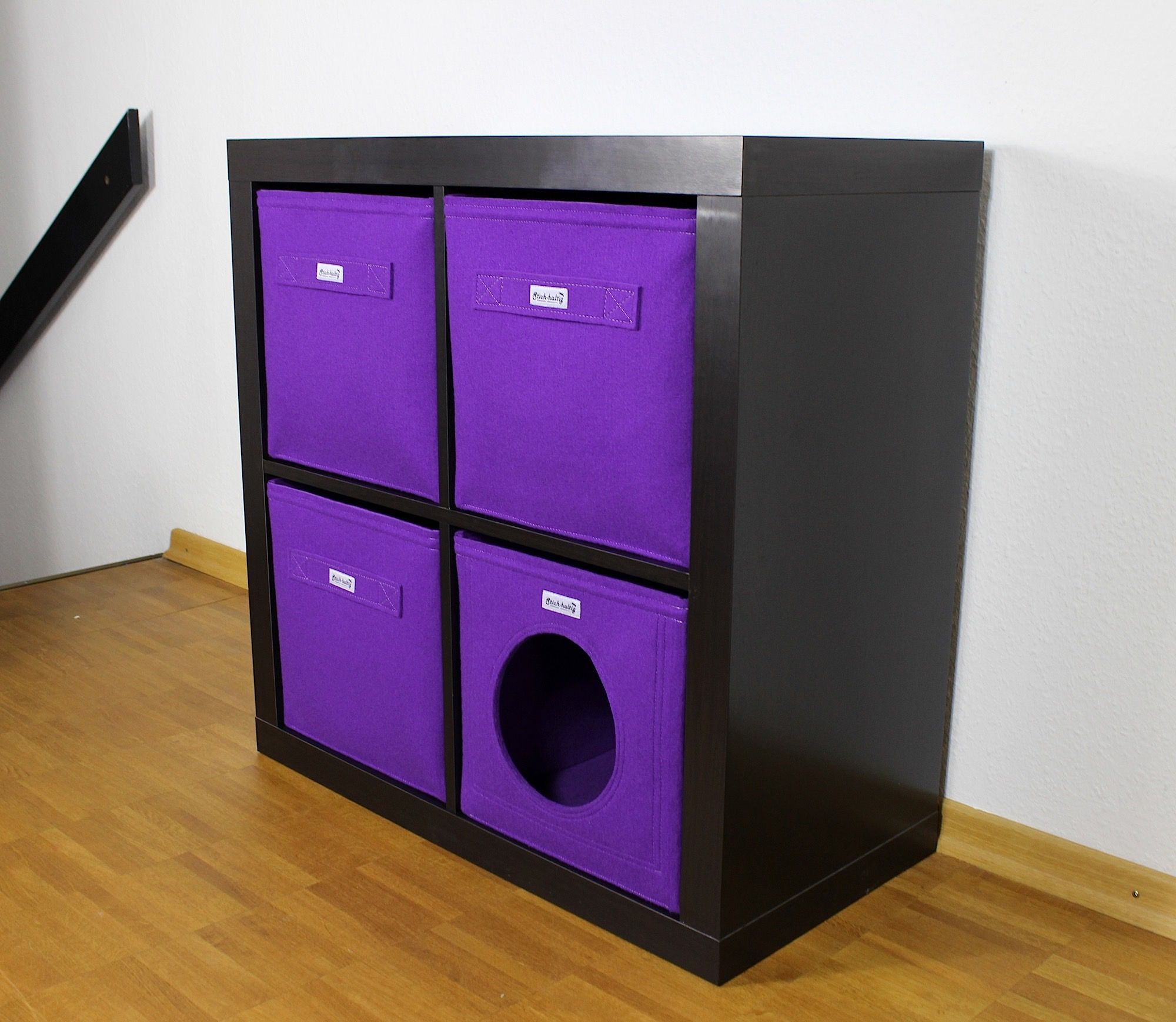 katzenh hle aus filz f r ikea kallax katzenbetten katzenliegen katze h hle katzenh hle. Black Bedroom Furniture Sets. Home Design Ideas