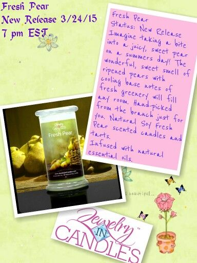 With Summer Upon Us, Try The Fresh Pear Scent!