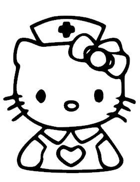 hello kitty coloring pages nurse - photo#9