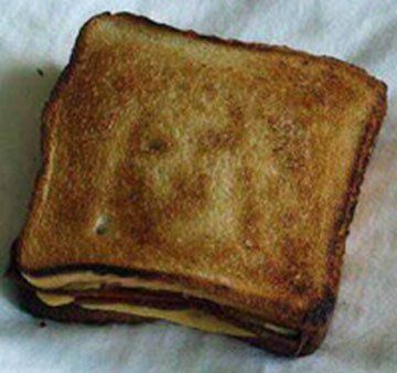 Image result for jesus face on grilled cheese