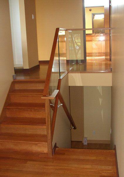 Really Liking The Glass Railing For My Tri Level Glass Railing | Split Level Stair Railing | Wrought Iron | Julia | Modern | Easy Diy | Fancy