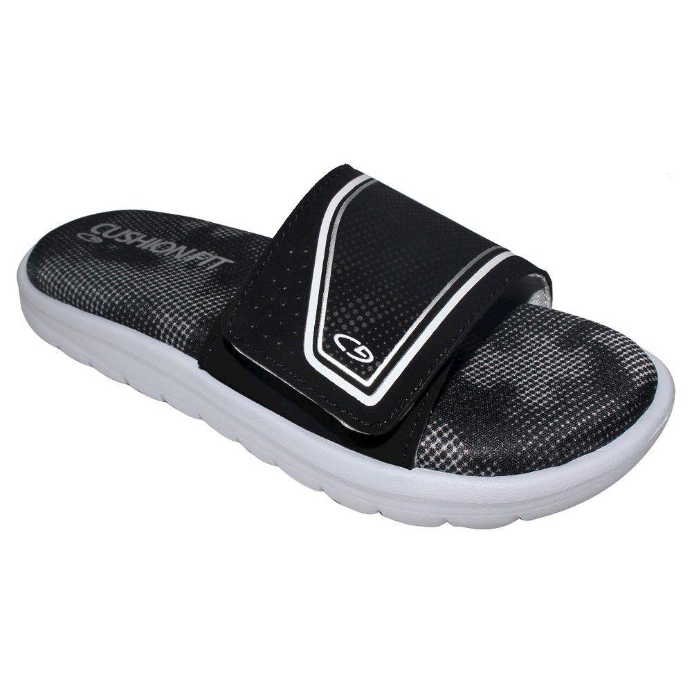 Boys' Gavyn Cushion Slide Sandals Black XL - C9 Champion, Boy's