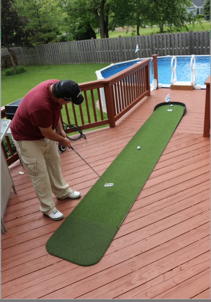 Big Moss Commander 3 X 15 Outdoor Putting Green Man