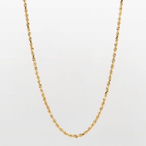Beautiful Basic This Rope Chain Features A Brilliant 10k Gold Construction Enhance Your Jewelry Collection With This Chain Gold Rope Chains Jewelry Necklace