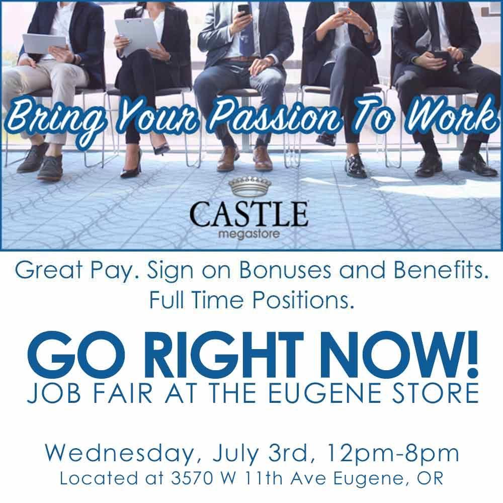 Go right now castle megastore job fair tuesday 732018