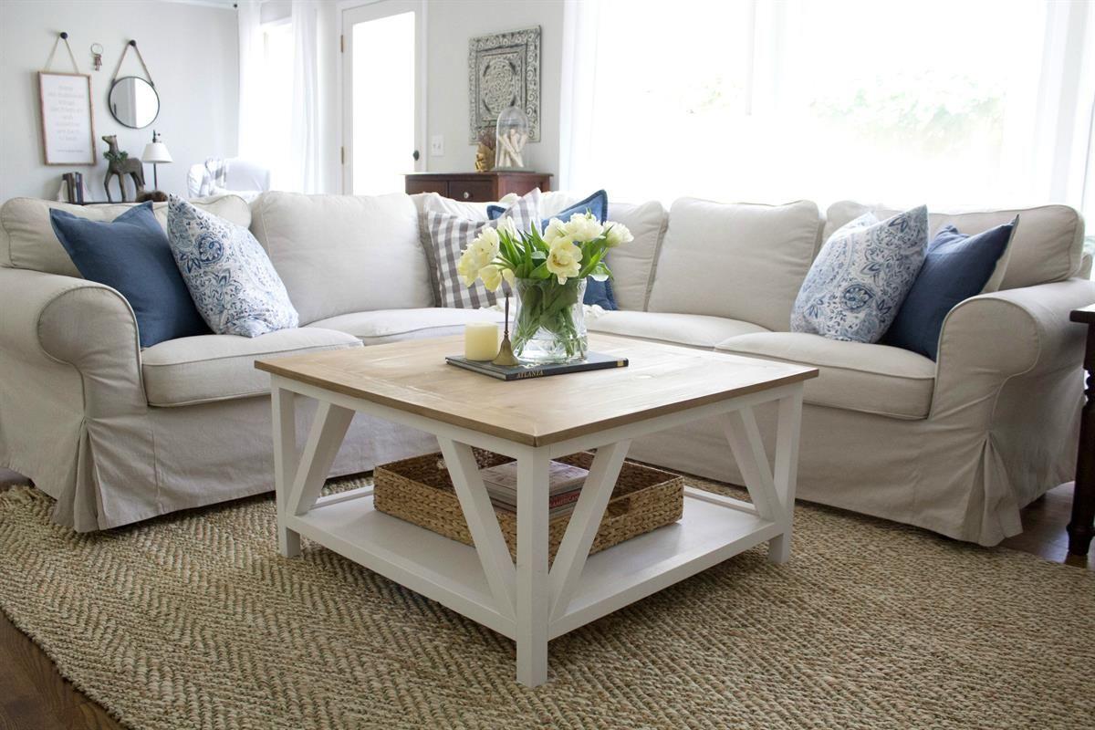 DIY Modern Farmhouse Coffee Table Coffee table plans