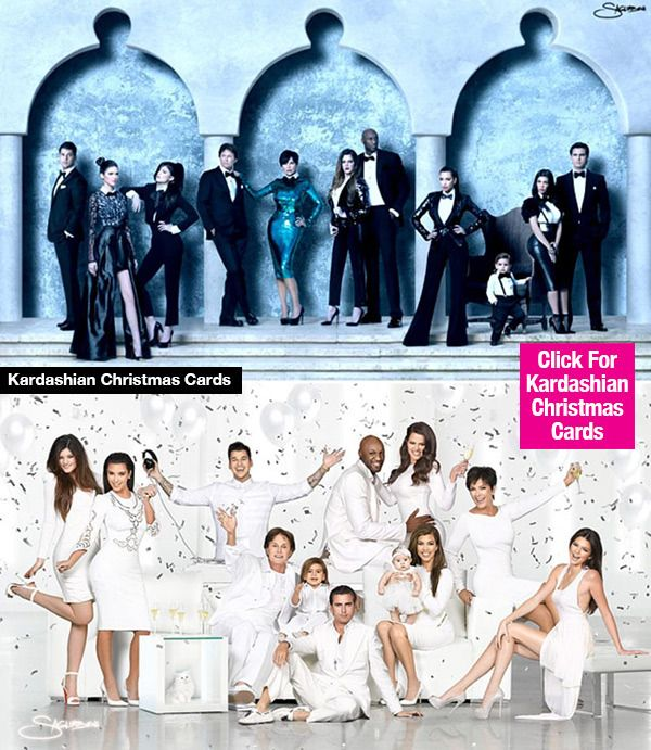 Kardashian Christmas Cards 8 Of Their Most Perfect Family Portraits For The Holidays Family Holiday Photo Cards Large Family Photo Shoot Ideas Family Christmas Pictures