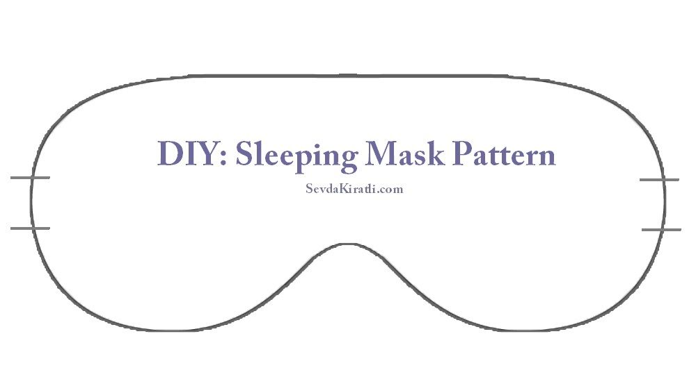 Sleep mask printable template dim pinterest template for Spa mask invitation template