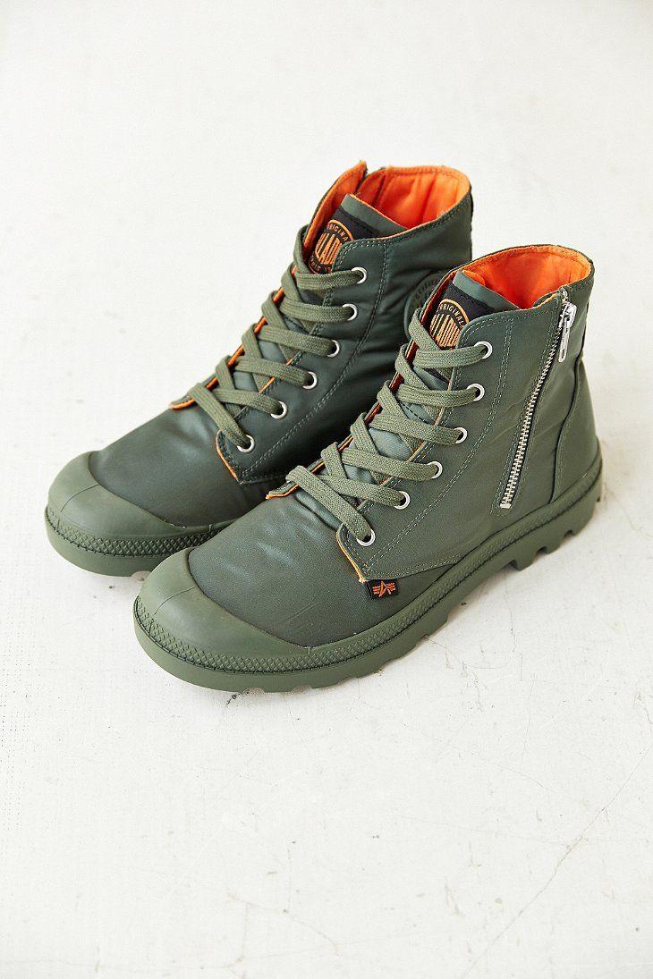 Palladium X Alpha Industries Pampa Low-Top Zip Boot ...