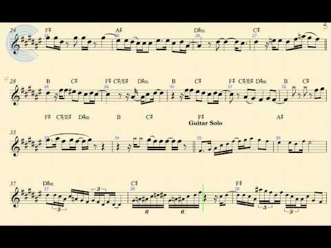 Tenor Sax Santeria Sublime Sheet Music Chords And Vocals