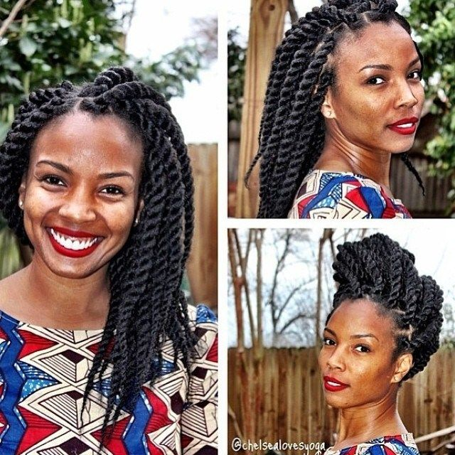Cool We Love Marley Twists Such A Gorgeous And Elegant Protective Short Hairstyles For Black Women Fulllsitofus