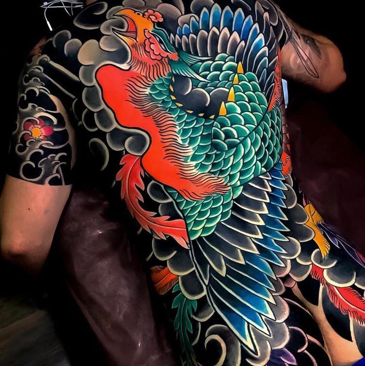 Japanese Inspiration Inkstinct Japanese Back Tattoo Phoenix Tattoo Japanese Tattoo