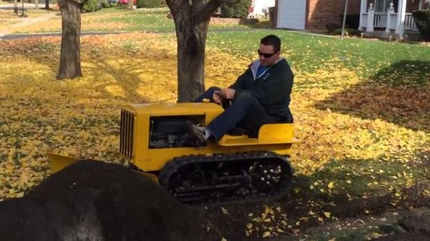 Building a Mini Bulldozer from Lawnmower Parts | Mini Dozer