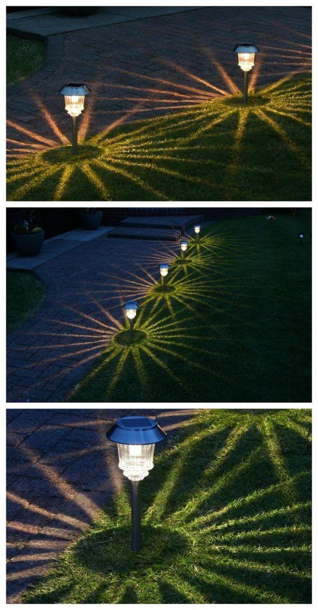 Garten Beleuchtung Solar Pollerleuchten Gehweg Garden Lighting