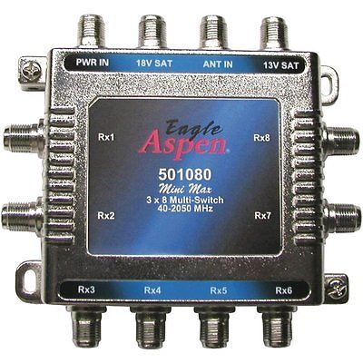 Satellite Signal Multiswitches Eagle Aspen 501080 3 In 8 Out Multi Switch