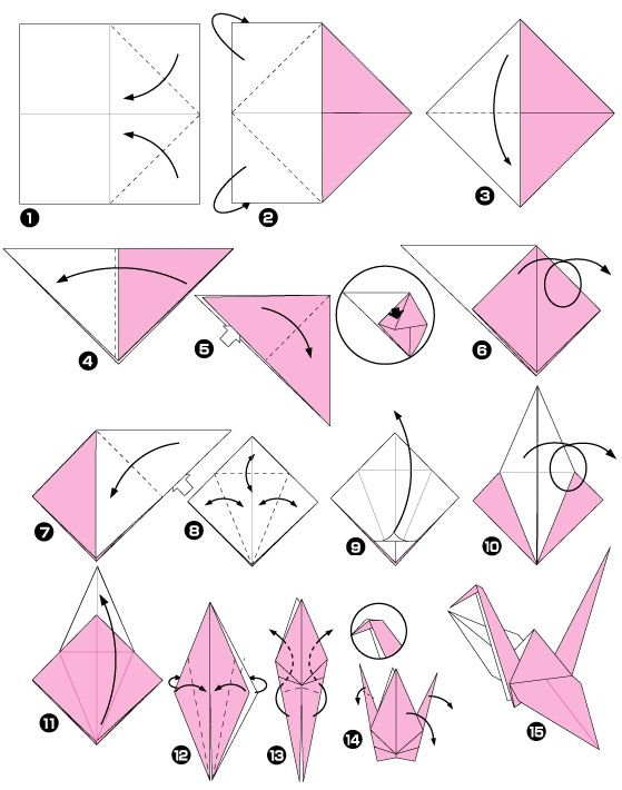 origami d'oiseau facile
