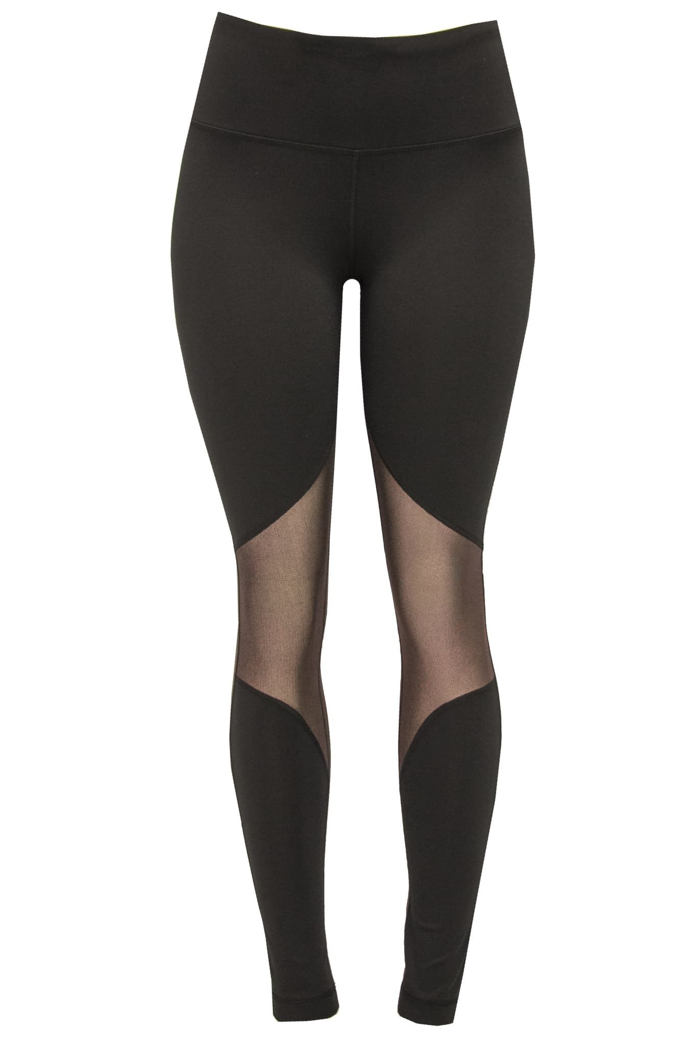 Black with Rose Gold Mesh Leggings