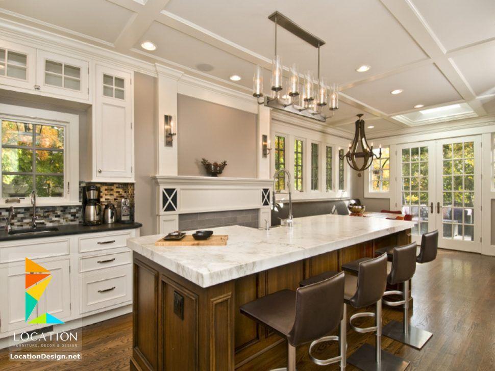 صور تصاميم مطابخ مفتوحه اجمل المطابخ المطبخ الامريكاني Luxury Kitchen Design Kitchen Design Black Kitchen Cabinets
